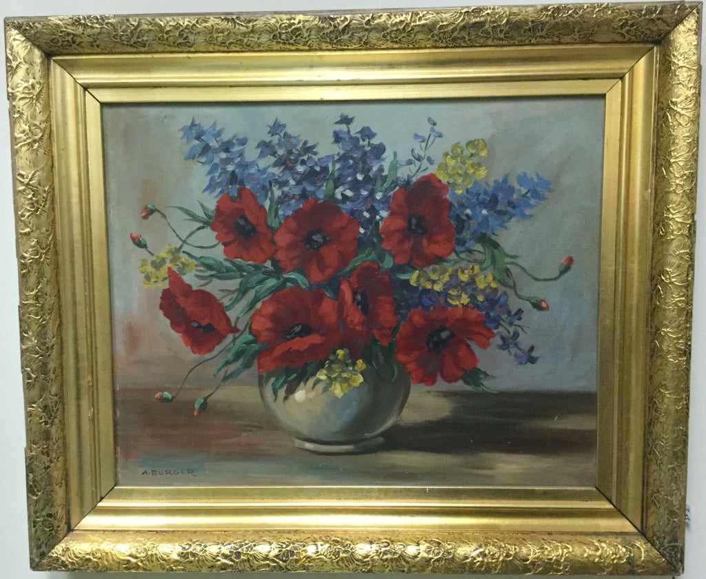 Floral Oil Painting, Signed
