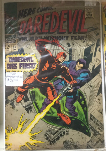 Daredevil Comic Book 35, 12 Cents