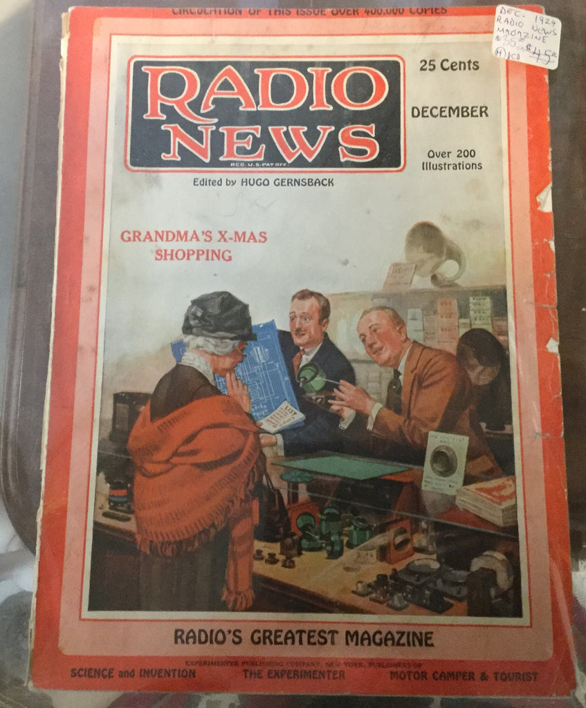 1924 Radio News Magazine Christmas