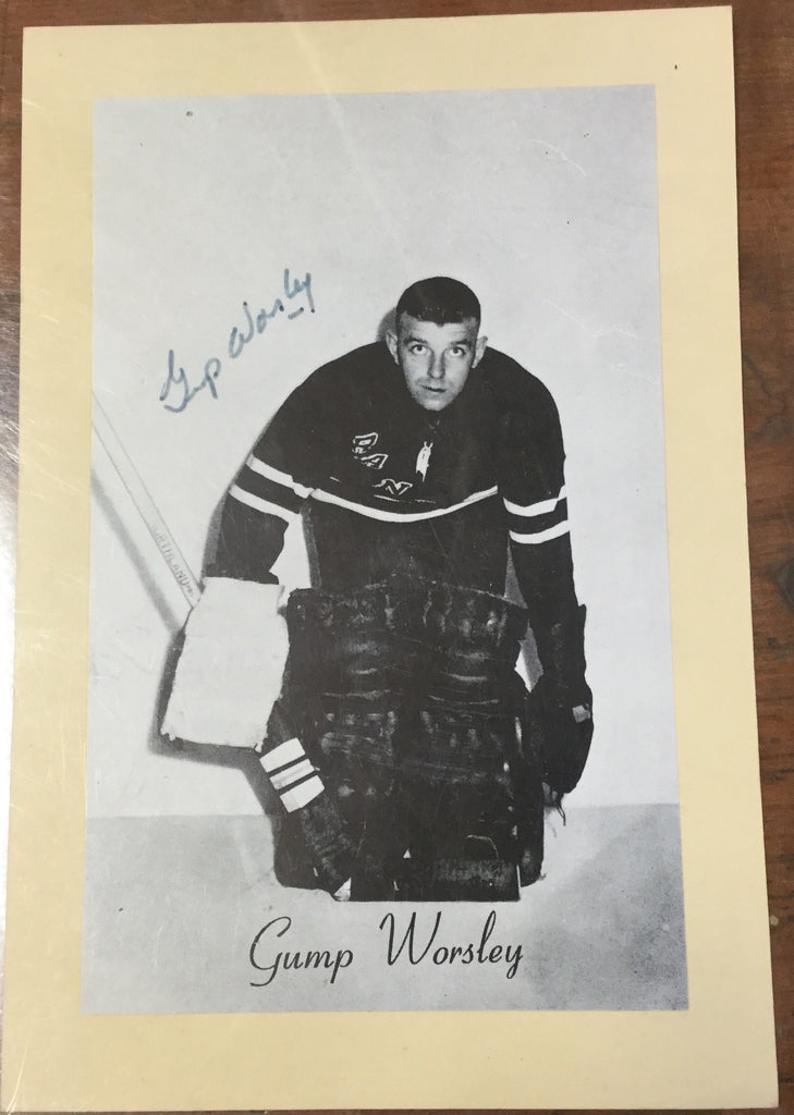 Tump Worsley Autographed Card