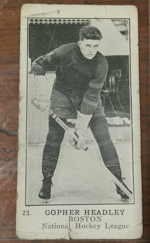 1920's NHL Hockey Fern Headly Card