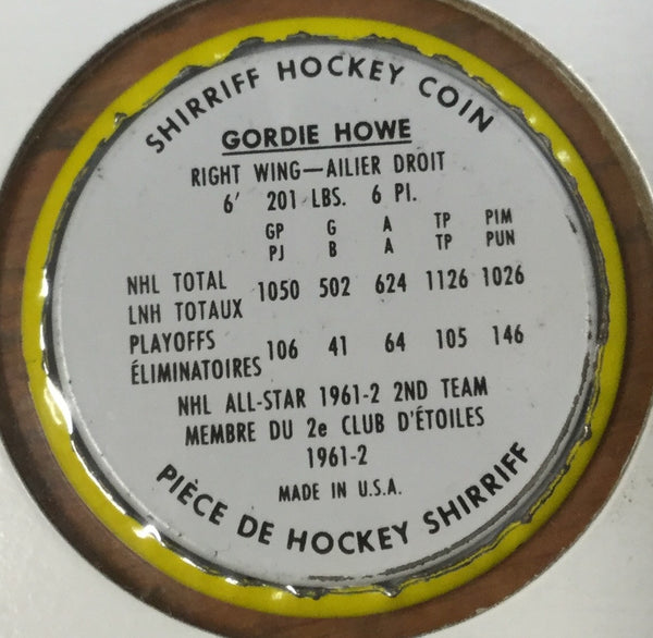 Shirriff NHL Geordie Howe Metal Coin