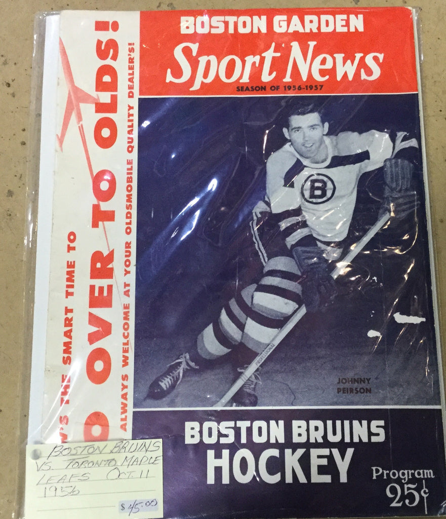 Boston Bruins Sports News Program 1956