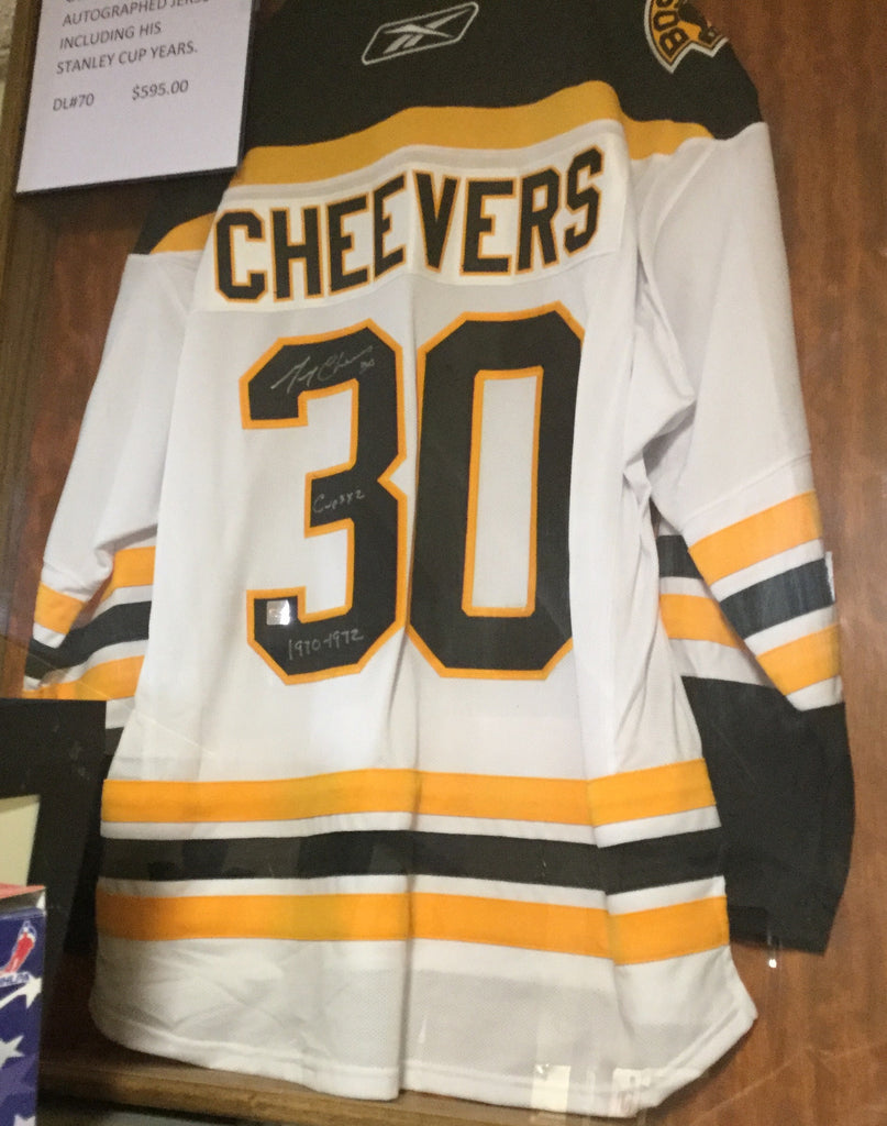 Gerry Cheever Autographed Hockey Jersey