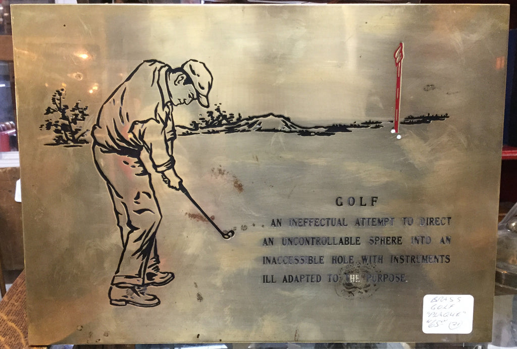 Humourous Brass Golf Plaque