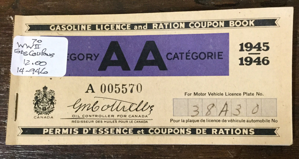 Canadian WWII Ration Coupon