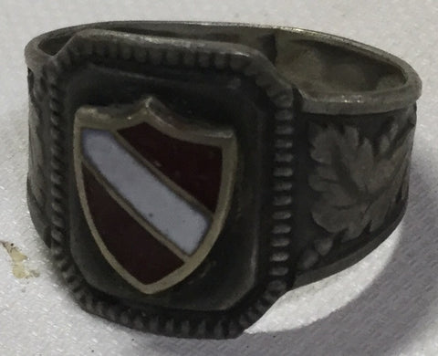 German Man's Sterling Ring WWII