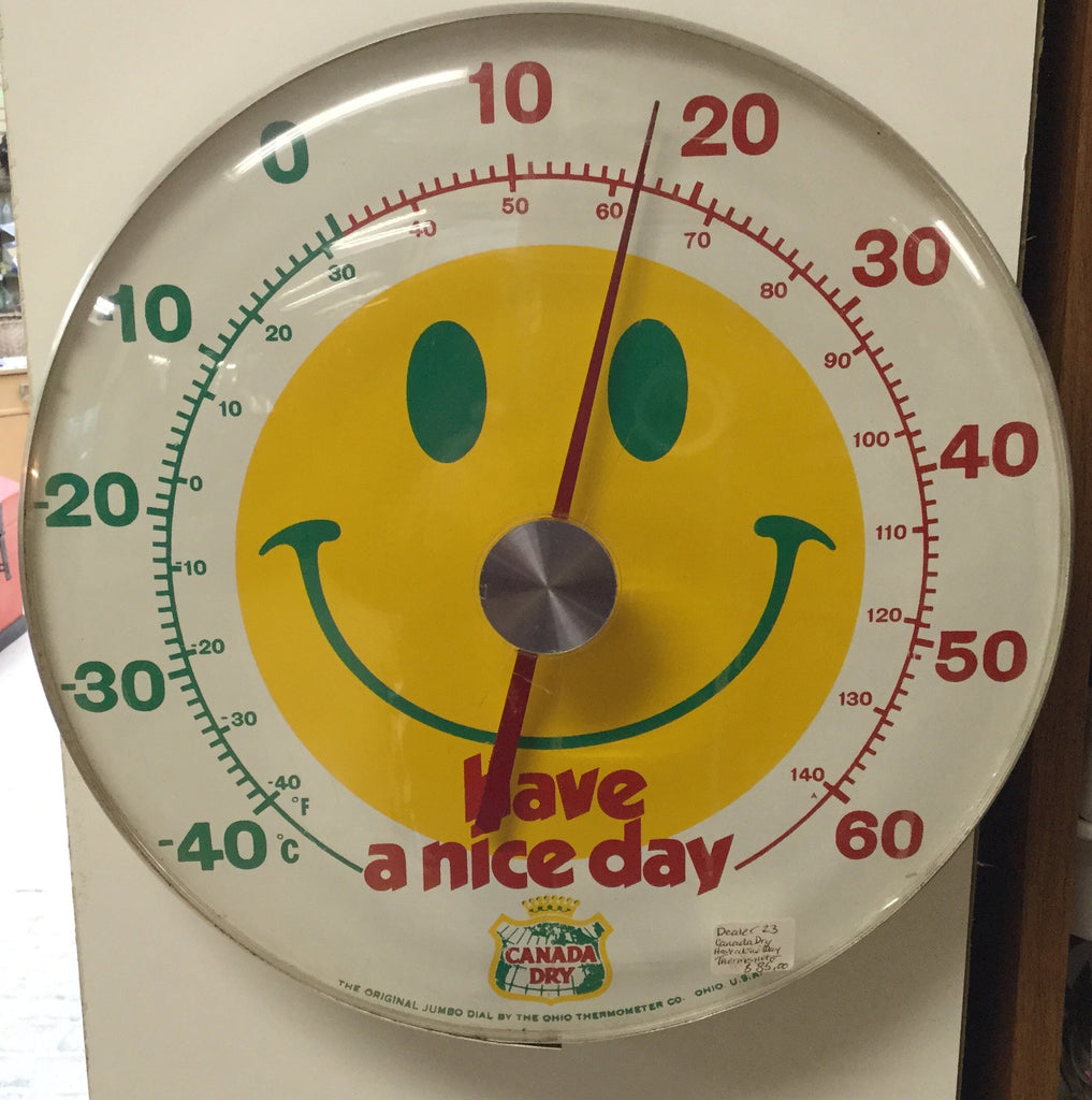 Canada Dry Smiley Face Thermometer