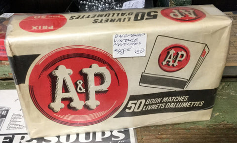 A & P Unopened Matches