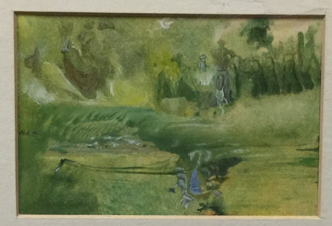 Green Abstract Watercolour Painting