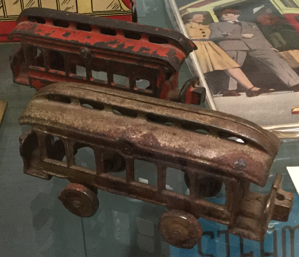 CastmIron Trolley Car Toy, 1900