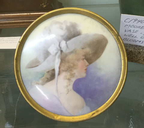 1890's Portrait On Porcelain