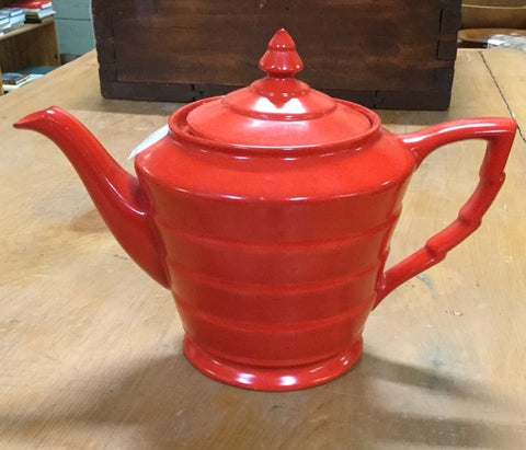 Art Deco Red Teapot