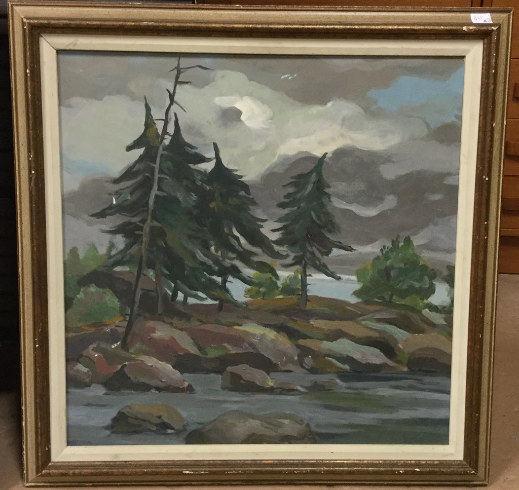 Oil Painting Lakescape