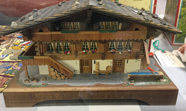 Swiss Alpine Lodge Music And Jewellery Box