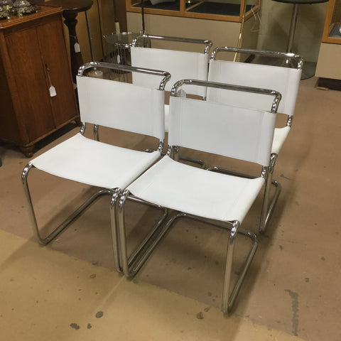 4 Chrome Bauhaus Style Chairs