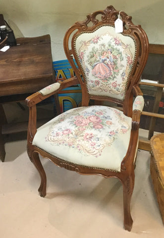 Victorian-style Upholstered Chair