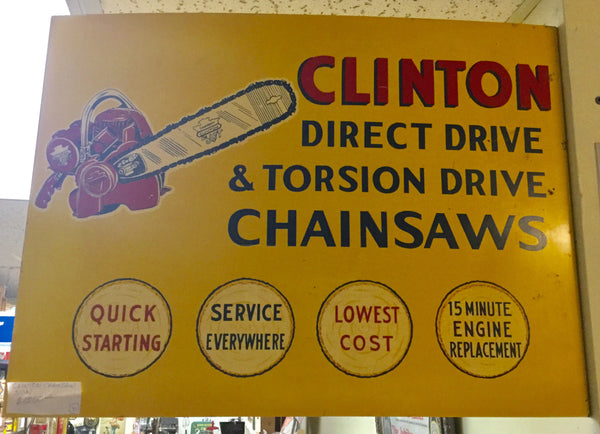 Clinton Chainsaw Flange Sign