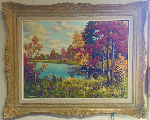 Muskoka Oil Painting by Blackwood
