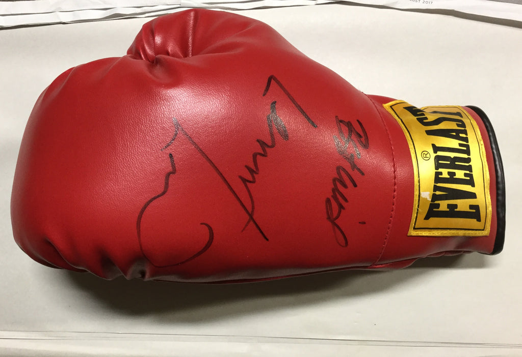 Signed Lennox Lewis Boxing Glove