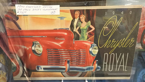 1940 Chrysler Car Brochure