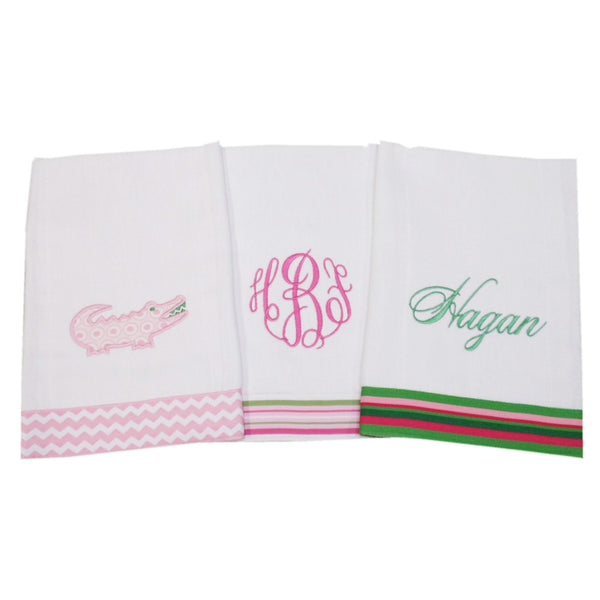 Personalized Burp Cloth Set with Design