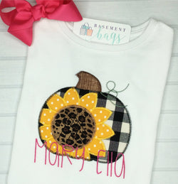 Sunflower Pumpkin Girls Shirt