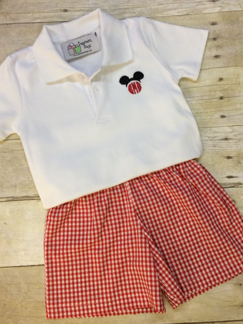 Boy mouse shorts set