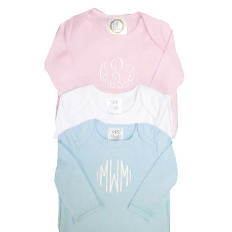 Monogrammed Infant Gown