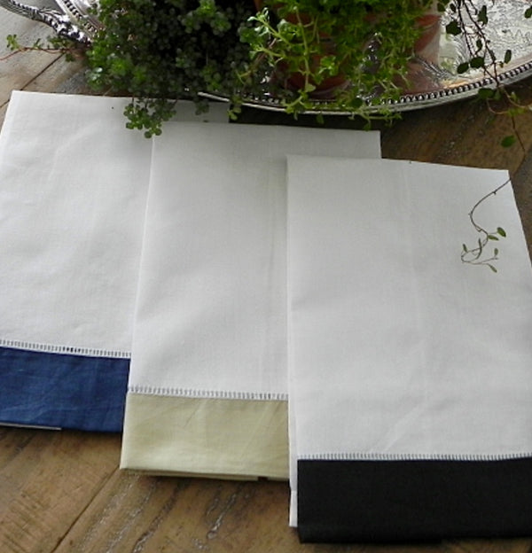 Monogrammed Hemstitch Guest Towels