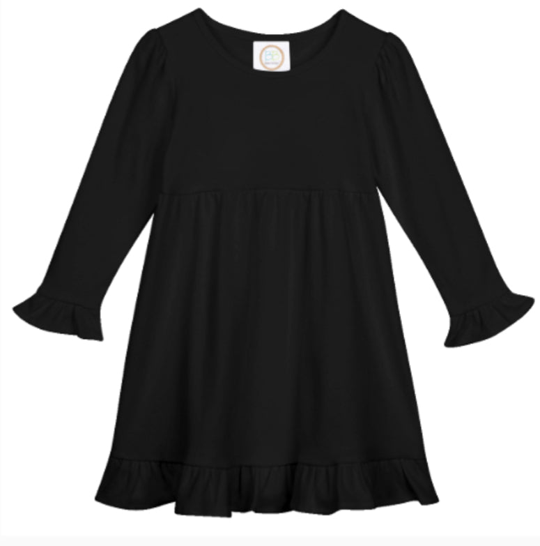 Ruffled Dress-long sleeves