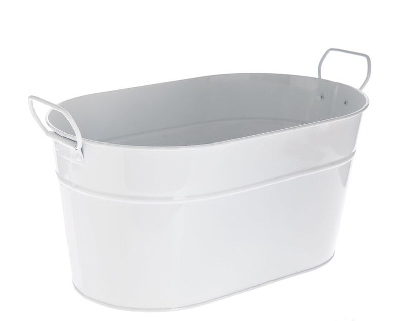 Monogrammed Oval  Metal Tub