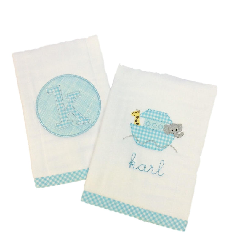 Noah's Ark Burp Cloth Set (2)