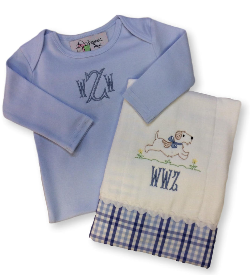 Running Dog Personalized Baby Gift Set