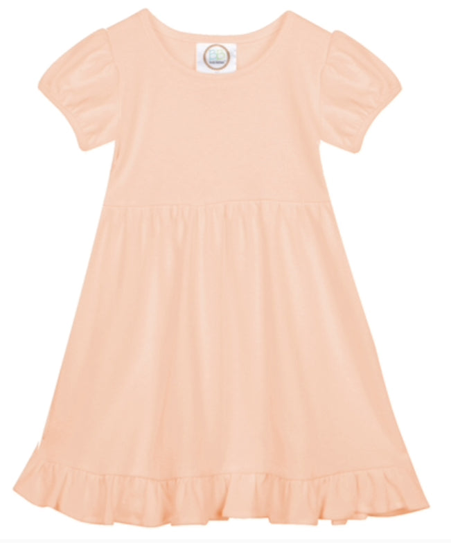 Ruffled Dress-short sleeves