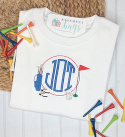 Golf Monogram Frame T-Shirt