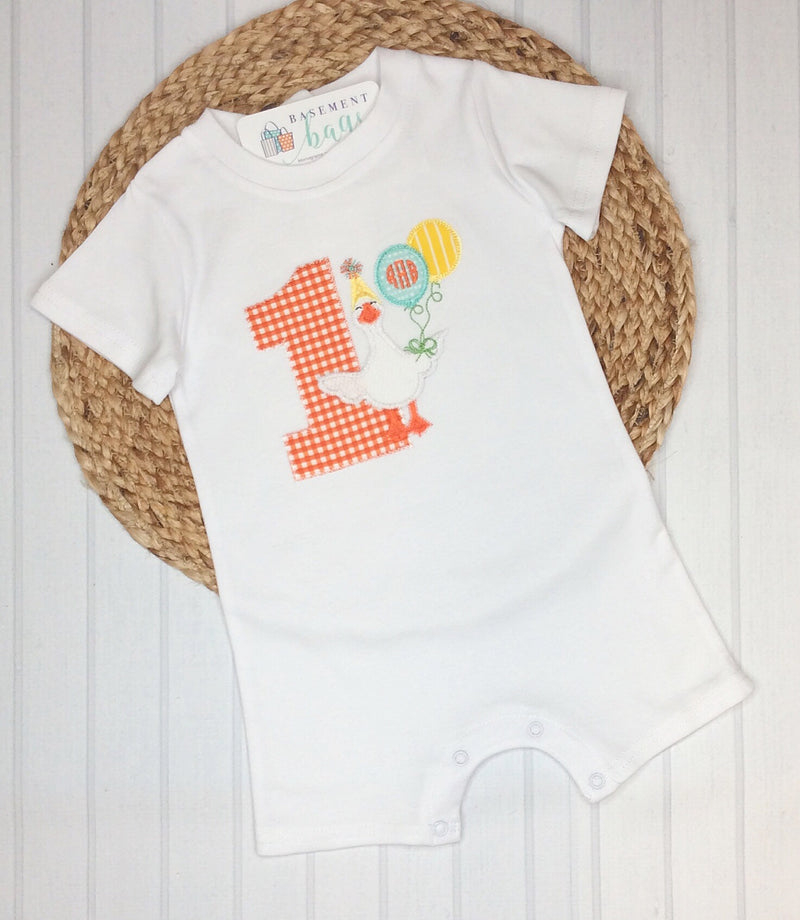 Personalized Unisex Baby Romper