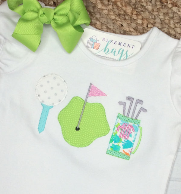 Girly Golf Scalloped Shorts Set