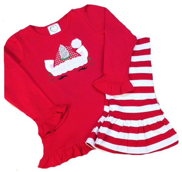 UnicornSanta Ruffle Pants Set
