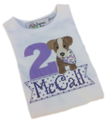 Bandanna Puppy Birthday  Shirt