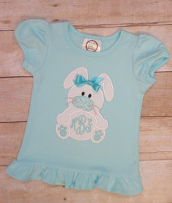 Easter Bunny Monogram Tee Shirt