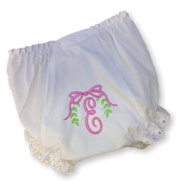 Monogramed Diaper Cover