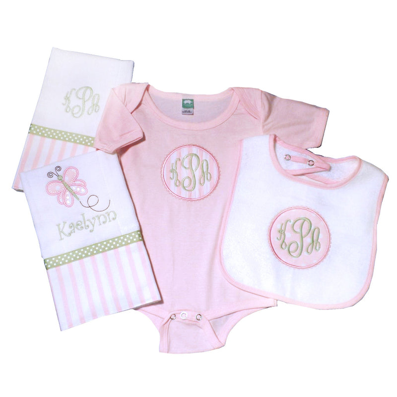 'Pretty In Pink' Personalzied Baby Gift Set