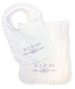 Ava Grace Bib and Burp Set
