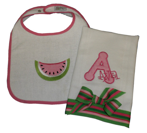 Bib & Burp Gift Set