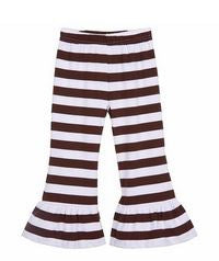Girls Stripe Ruffled Pants