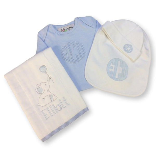 Elliott Personalized Baby Gift Set