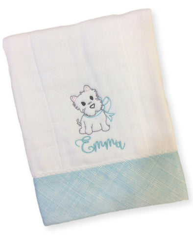 Vintage Pup Burp Cloth