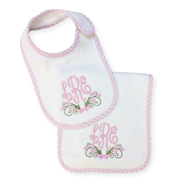 Personalized Bib & Burp Gift Set