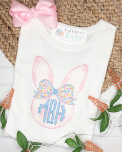 Monogrammed Bow Bunny Shirt